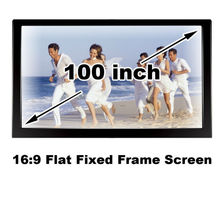 Good View HD 100 Inch Brightness Black Velevt Flat Fixed Frame Screen Projector DIY Projection Manual Screens16:9 Home Cinema 3D