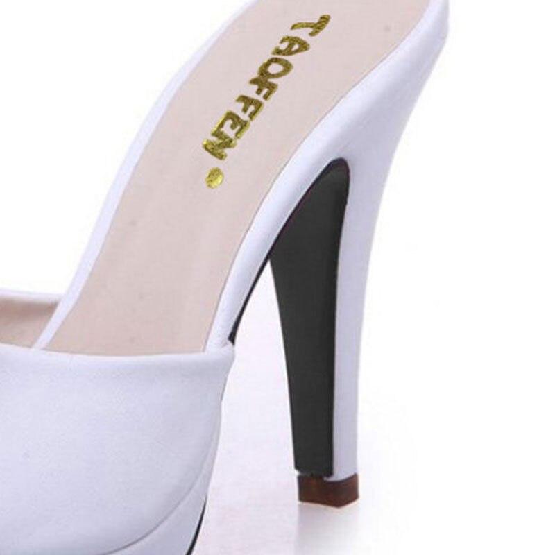 TAOFFEN Women High Heel Sandals Open Toe Shoes Fashion Slippers Bowtie Platform Shoes Women Daily Leisure Footwear Size 34-39