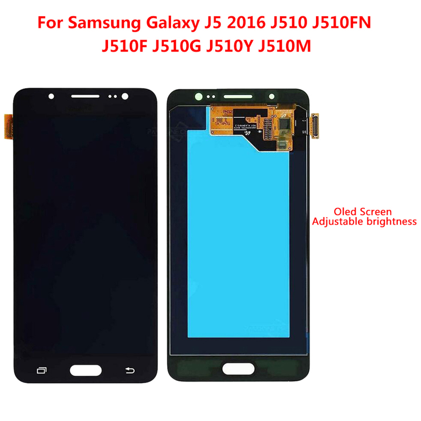 "Super AMOLED 5.2"" For Samsung Galaxy J5 2016 J510 J510F J510M J510Y J510FN LCD Display Touch Screen Digitizer Full Assembly"