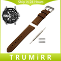 Italian Calf Genuine Leather Watch Band 22mm 24mm for Diesel Wrist Strap Stainless Steel Tang Buckle Belt Bracelet Black Brown