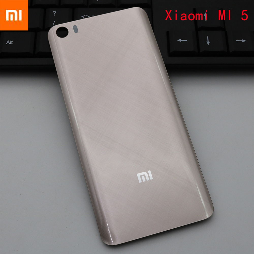 Original genuine 3D Glass Replacement Battery Cover for XIAOMI MI 5, Smooth Skin Housing Back Door Hard case 5 colors in stock-in Phone Bumpers from Cellphones & Telecommunications