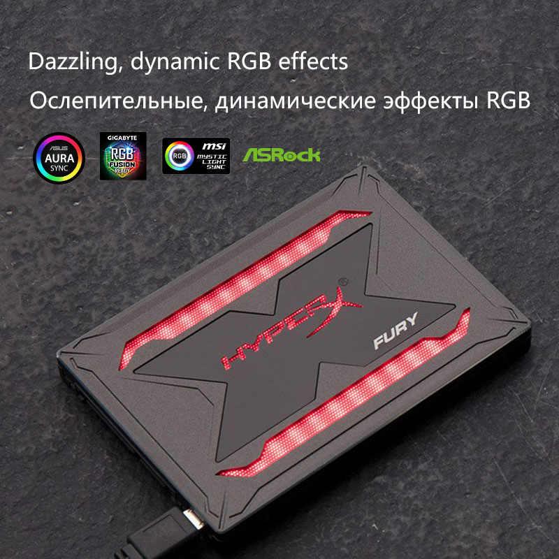 Kingston HyperX FURY RGB SSD 240GB 2.5 inch SATA III HDD Hard Disk 480GB 960G Internal Solid State Drive stunning RGB lighting