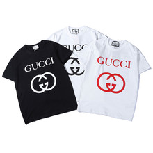 Summer T Shirt Women Cotton Letter Printed Casual Short Sleeve Top tee T-shirt Plus Size