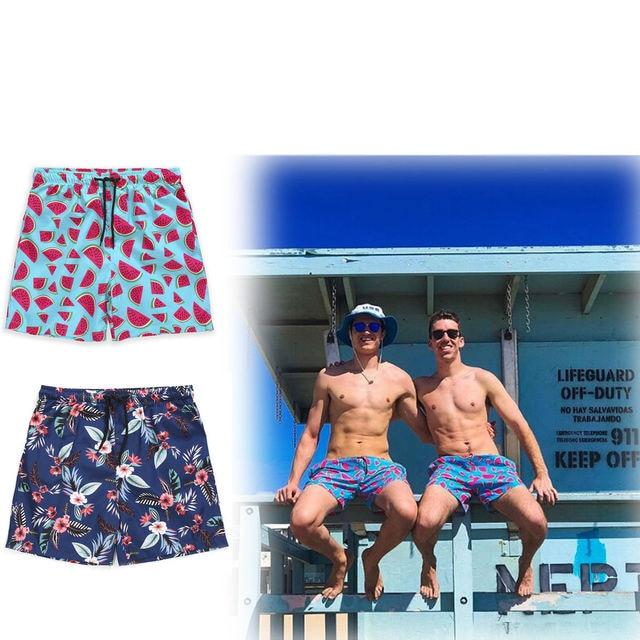 2018 Горячие Для мужчин доска Шорты Купальники Surf Beach быстросохнущие Шорты спортивные Мужские Шорты для купания Арбуз цветок Шорты пляжная одежда M-XXL