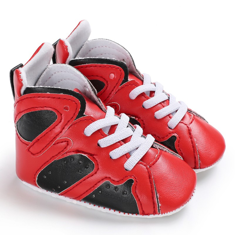 PU Baby Boys Girls Casual Stitching Shoes Soft Sole Anti-slip First Walker