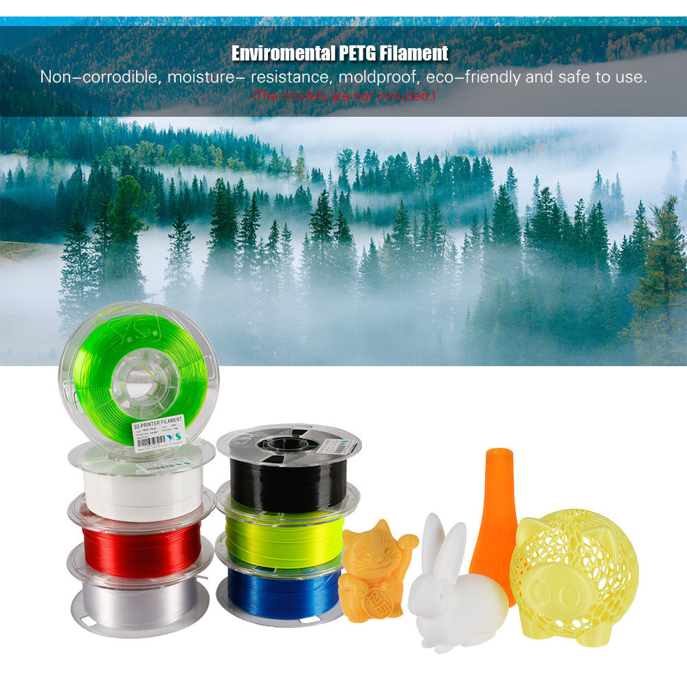 Diameter Tolerance +//- 0.05 mm Transparent EVERGREEN TREE 1.75 mm 1 KG Spool 3D PETG 1KG 1.75mm Transparent PETG 3D Printer Filament