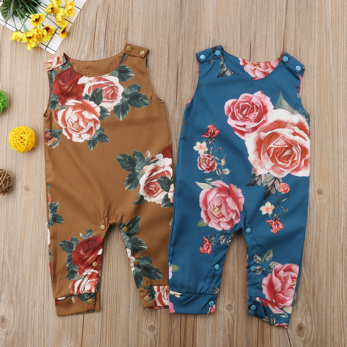 4081625168127 Pudcoco New Newborn Infant Baby Girls Sleeveless Romper Flower Baby Girl  Clothes Summer Jumpsuits