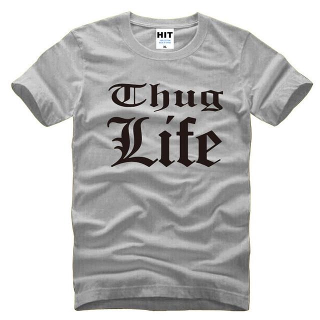 Tupac 2PAC Thug Life Rock Rap Homens T Tshirt da Camisa Dos Homens moda 2016 Nova Manga Curta O Pescoço de Algodão T-shirt Tee Camisetas Hombre