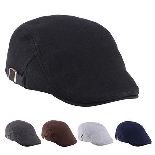 Men Women Duckbill Fashion Classic Beret Cabbie Cowboy Flat Hat Golf Driving Cap