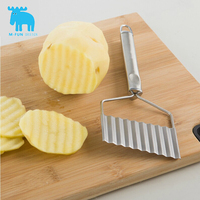 M Fun Food Grade Good Quality Stainless Steel Wavy Potato Slicers Potato Shredders Useful Convenient Cooking