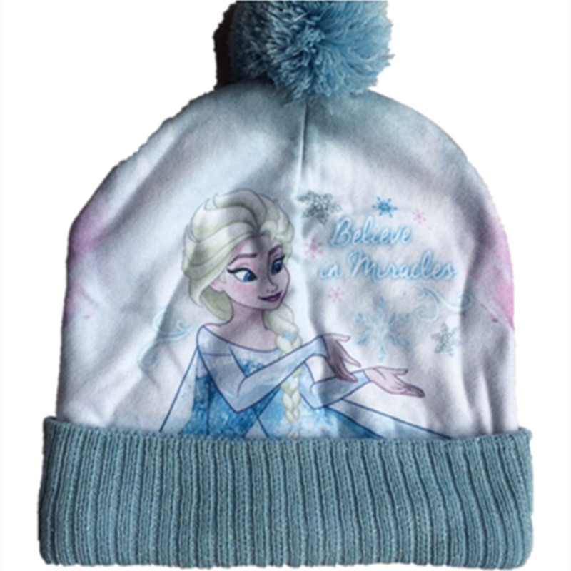 Cartoon Anime Plush Cotton Knitting Olaf Elsa Anna Warm Soft Winter Hat Beanies Kid Adult Cosplay Cap Beanies With Scarf Collar
