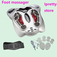 Electro Foot Massager Far Infrared EMS Pressure Points Foot Massage Machine Reflexology Feet Care Body Slimming Belt 8 EMS Pads