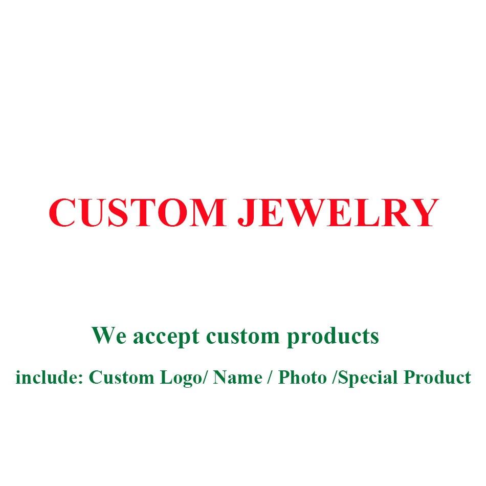 BELAWANG magasin accepter bijoux personnalisés/personnaliser graver nom/personnalisé Photo échantillon autres bijoux spéciaux