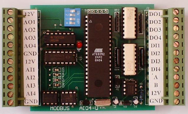 Free Shipping! 1pc Modbus testing control module AIO4U  module sensorFree Shipping! 1pc Modbus testing control module AIO4U  module sensor