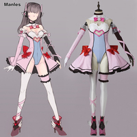 D Va Cosplay Costume Fancy Dress Game Role DVA Clothes Adult Women Halloween Carnival Cosplay Outfit
