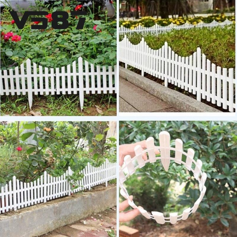 vallas de plstico blanco barandilla vallas estilo europeo pas insertar suelo para jardn patio decor fcilmente