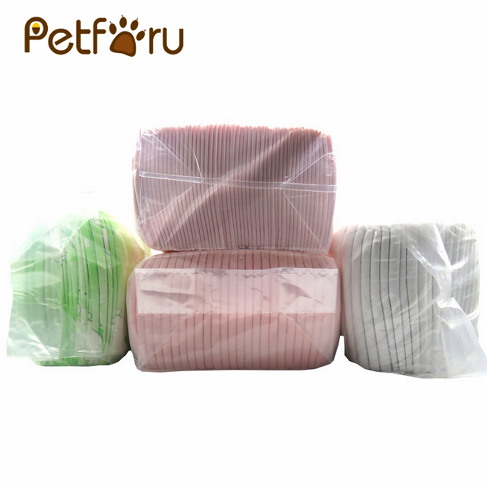 Petforu 50Pcs Super Absorbent Dog Diapers Cat Diapers Pet Deodorization Urine Pad 45*60cm Color Random