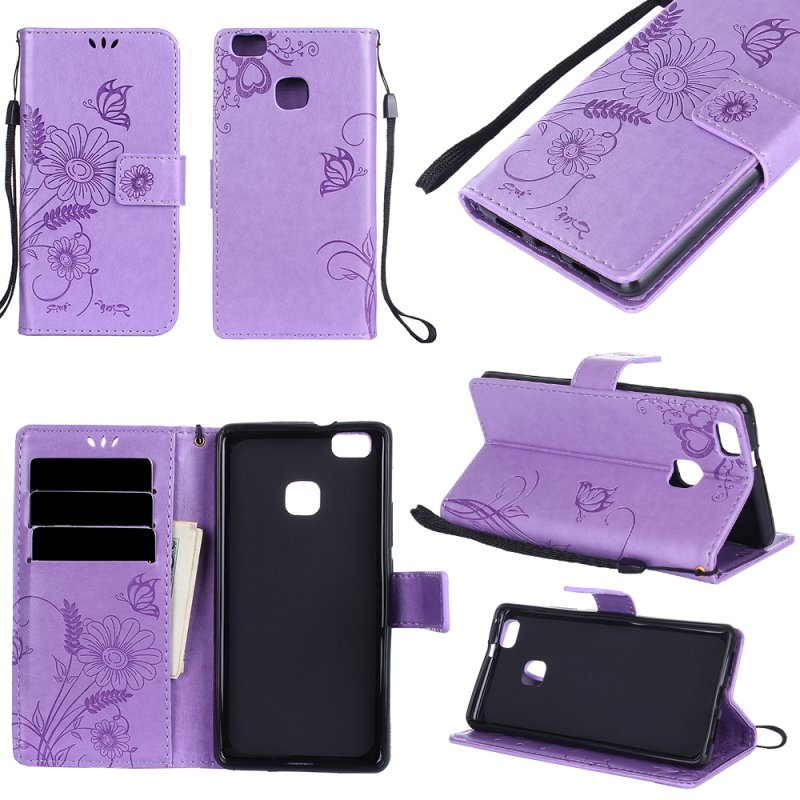 Case For Huawei P10 P9 Lite P8 Lite 2017 P10Lite Wallet Leather Cover  Elegant Fashion Silicone Flower Butterfly Ant Coque Etui dac6fa843681