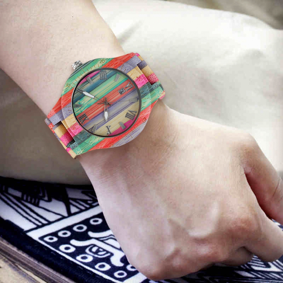 Fashion Men's Watch Luxury Wooden Quartz Watch Popular Unique Candy Color Full Wood Wrist Women Watch Male Clock Souvenir Gifts 2020 2025 (11)