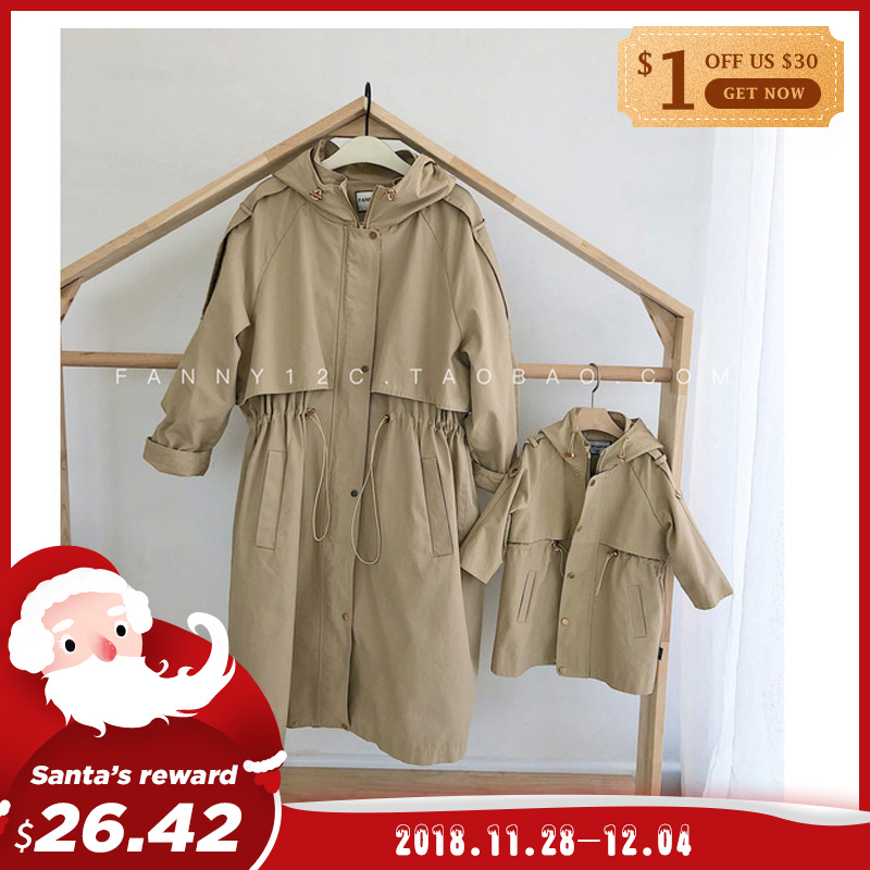 2018  Matching Clothes Family  Autumn winter Mother Daughter Outerwear & Coats  for mother kids clothing mommy and me clothes
