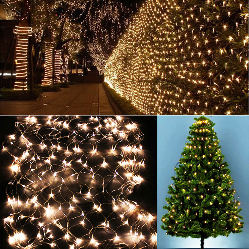 3m X2m 210 Led Fairy String Xmas Tree Mesh Curtain Ceiling House Window Wall Net Light Festival Christmas Holiday Decoration In From Lights