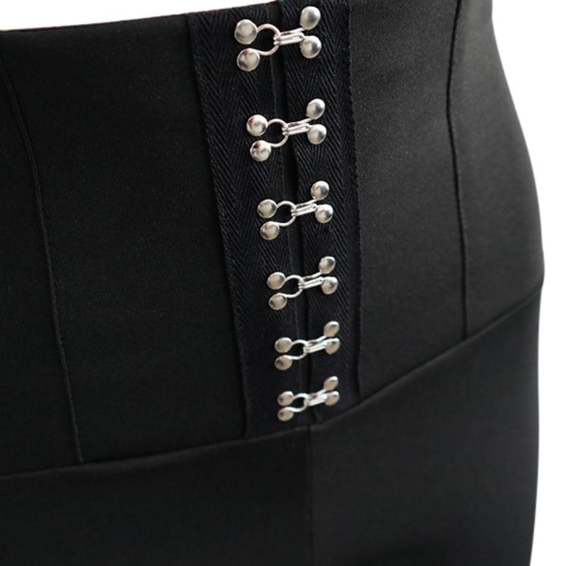 High Waist Push Up Women Leggings 2018 Spring Summer Skinny Leggings Black Empire Eyelet Lace Up Sexy Leggins Elegant Pants