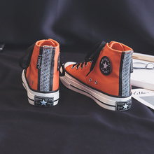 Woman Orange Shoes High Top Fashion Sneakers 2019 Spring New Stylish Girls
