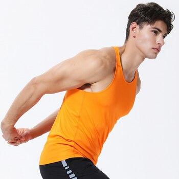 Mens Gym Sleeveless Shirt Summer Compression Tight Tank Running Vest 2019 Men Sport Vest Top New Workout Training Man Singlet 1