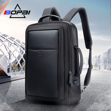 BOPAI back pack mochila masculina USB Charge Backpack Men 15.6 Inch Notebook School Bags Black Cool Travel Backpacks for Men
