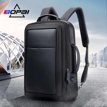 BOPAI back pack mochila masculina USB Charge Backpack Men 15.6 Inch Notebook School Bags Black Cool Travel Backpacks for Men - DISCOUNT ITEM  43% OFF All Category