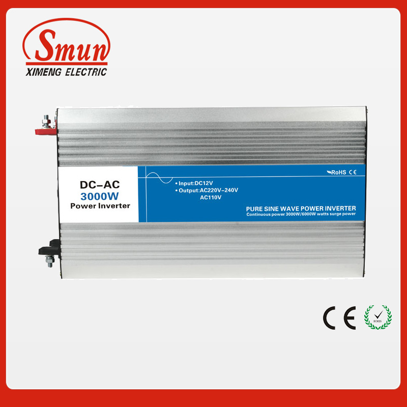 3000W 12VDC to 220VAC pure sine wave inverter with 10A AC charge for solar panel and home appliances 500w 12vdc 220vac pure sine wave inverter without ac charge home inverter