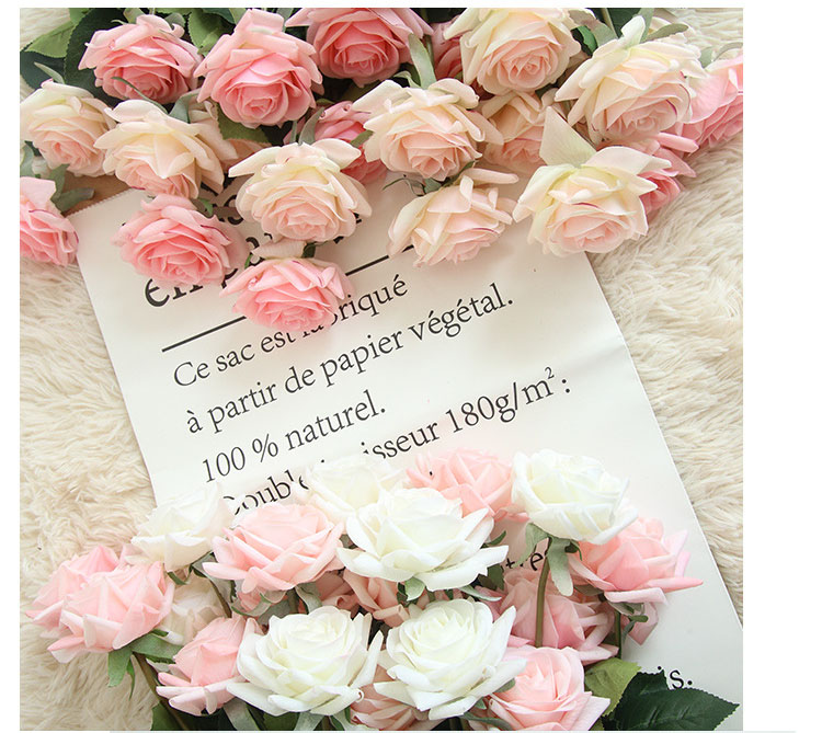 Real touch roses artificial flower wedding home decoration (17)