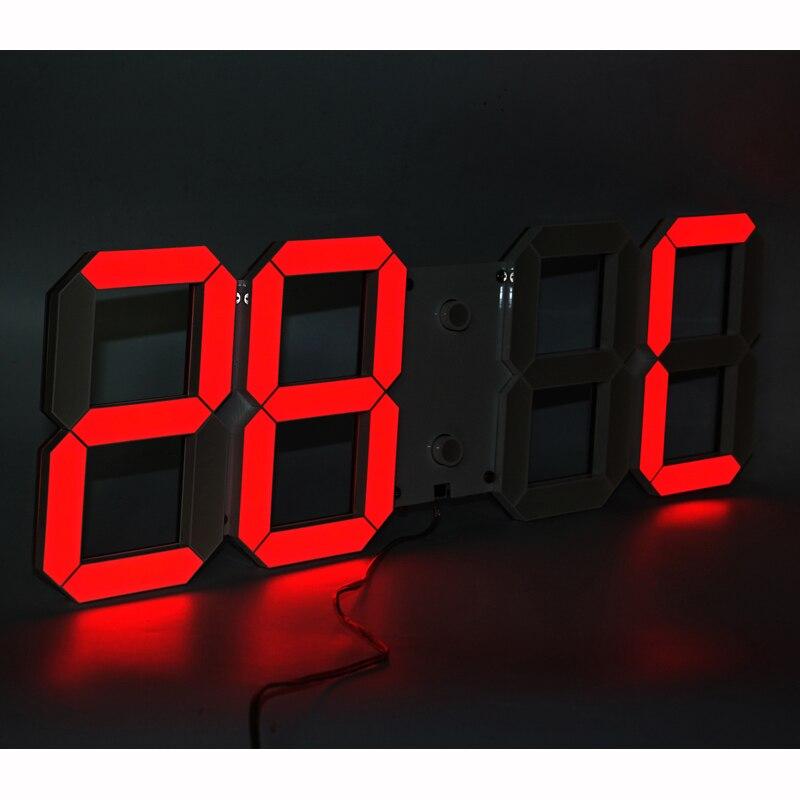 Grote Display led wandklok met afstandsbediening countdown/up timer klok met temperatuur datum 6 ''hoge led cijfers hoge zichtbaar-in Wandklokken van Huis & Tuin op  Groep 3
