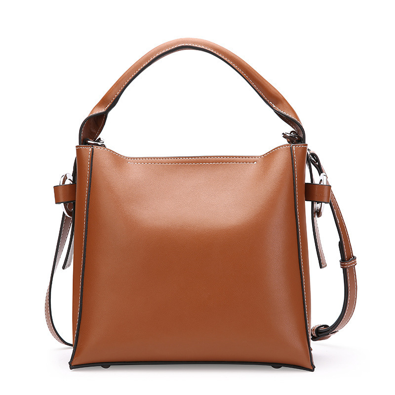 New Women Genuine Leather Handbags Large-capacity Autumn And Winter Korean Casual Handbags Wild Shoulder Bags Lady Messenger Bag autumn and winter new ladies genuine