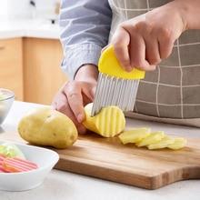 Волна лук картофель ломтики сморщенный картофель фри салат гофрированный резки нарезанный картофель слайсер Кухонные гаджеты и аксессуары