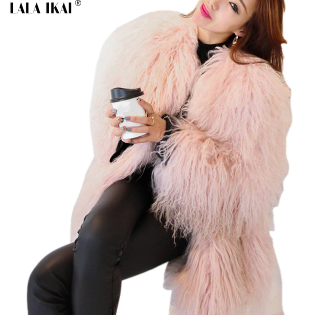 dd2d3a037d Women Warm White Lady Fake Fur Jacket Plus Size Fur Coat Pink Women's Faux  Fur Coat