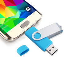 Two site mobile phone OTG usb flash drive 4gb 8gb16gb 32gb 64gb high speed rotation usb