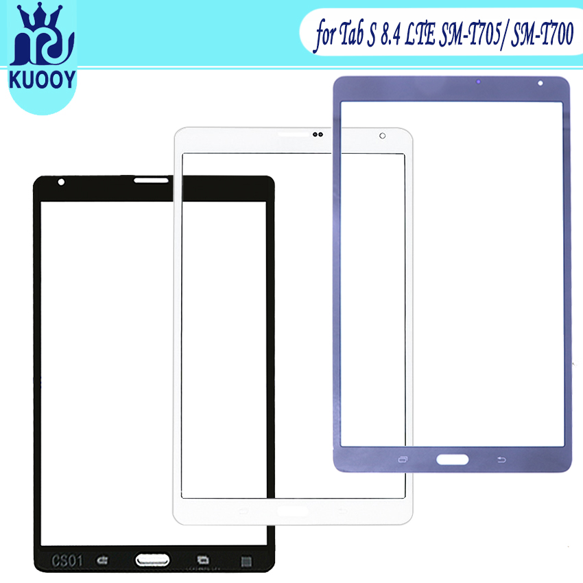 New Replacement LCD Front Touch Screen Panel Outer Glass Lens For Samsung Tab S 8.4 T705 T705C SM-T705
