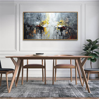 Hand painted canvas oil paintings Wall art Pictures for living room Cheap modern cuadros abstract oil painting boat sea