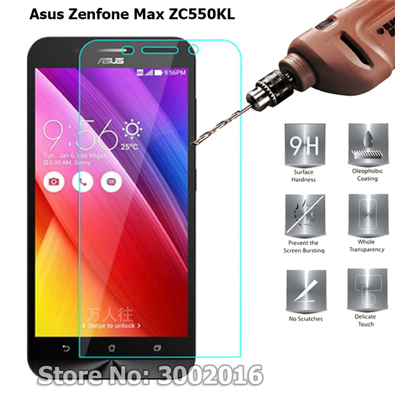 2Pcs Scratch-Proof Tempered Glass For <font><b>Asus</b></font> Zenfone Max ZC550KL <font><b>Z010DA</b></font> Z010DD Z010 5.5inch Screen Protector Protective Glass Film image