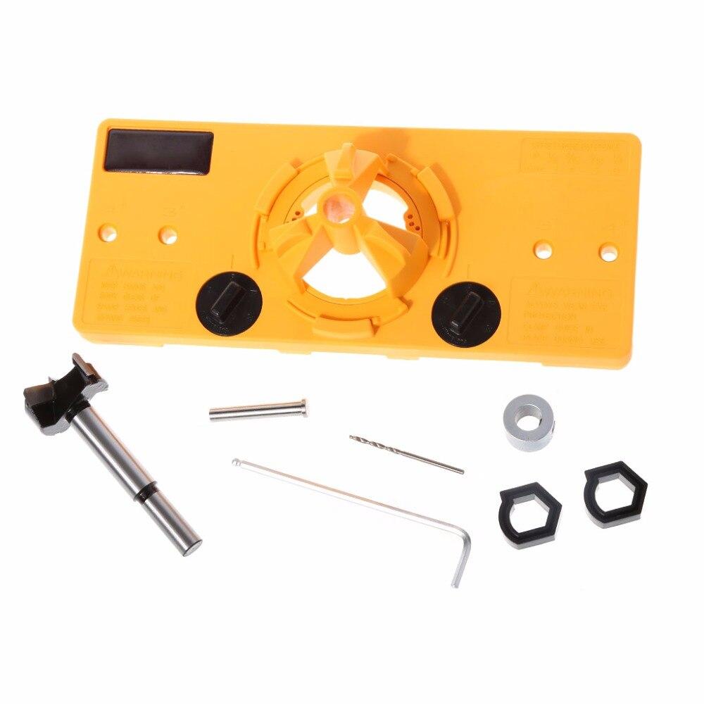 OOTDTY 35 MM Tasse Stil Scharnier Boring Jig Drill Guide Set Tür ...