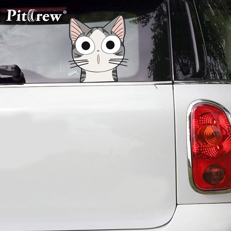 1PC 21*19cm High Quality Funny Chi cat Cartoon Animals Car Sticker Wall Vinyl Window Body Decal Sticker Personality Car Styling high quality alaskan malamute retriever vinyl window dog decal sticker for car suv body