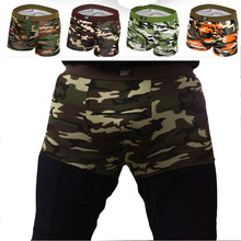 4 teile/los männer underwear boxershorts atmungs tarnung penis pouch sheer männerunterhose marke modale männlicher boxer