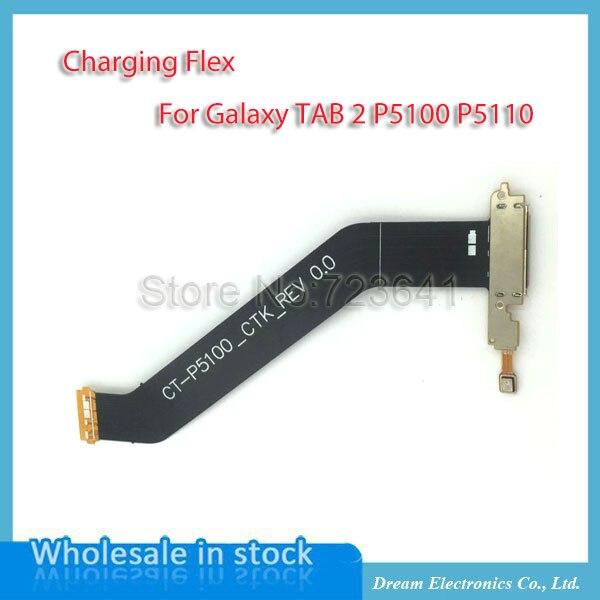 imágenes para MXHOBIC 10 unids/lote Alta Calidad para Samsung Galaxy Tab 2 10.1 P5100 P5110 de Conector Dock Puerto de Carga Flex Ribbon Cable