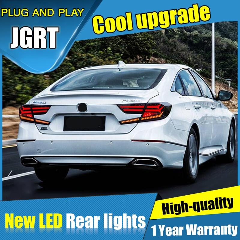Dynamic turn signal car tail lights For Honda Accord Taillights LED DRL Running lights Fog light