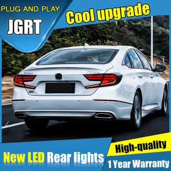 Dynamic turn signal car tail lights For Honda Accord Taillights LED DRL Running lights Fog light Rear parking lights 2018 2019 - DISCOUNT ITEM  11% OFF All Category