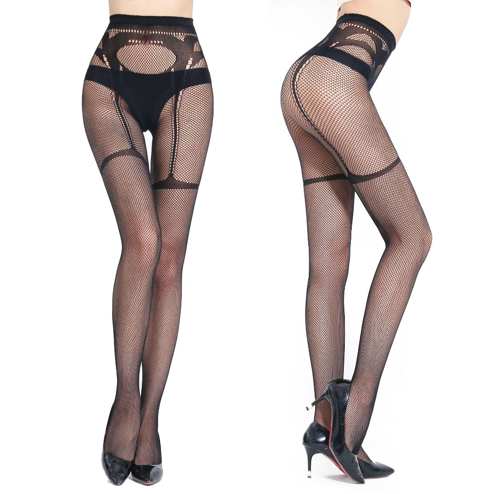 Pantyhose Club sexy lady all-in-one mesh stocking supender fashion fishnet