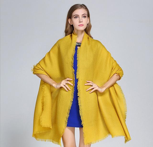2017 nuove donne 100% sciarpe di lana inverno di grandi dimensioni lungo  marca donna autunno 5924f45c1454