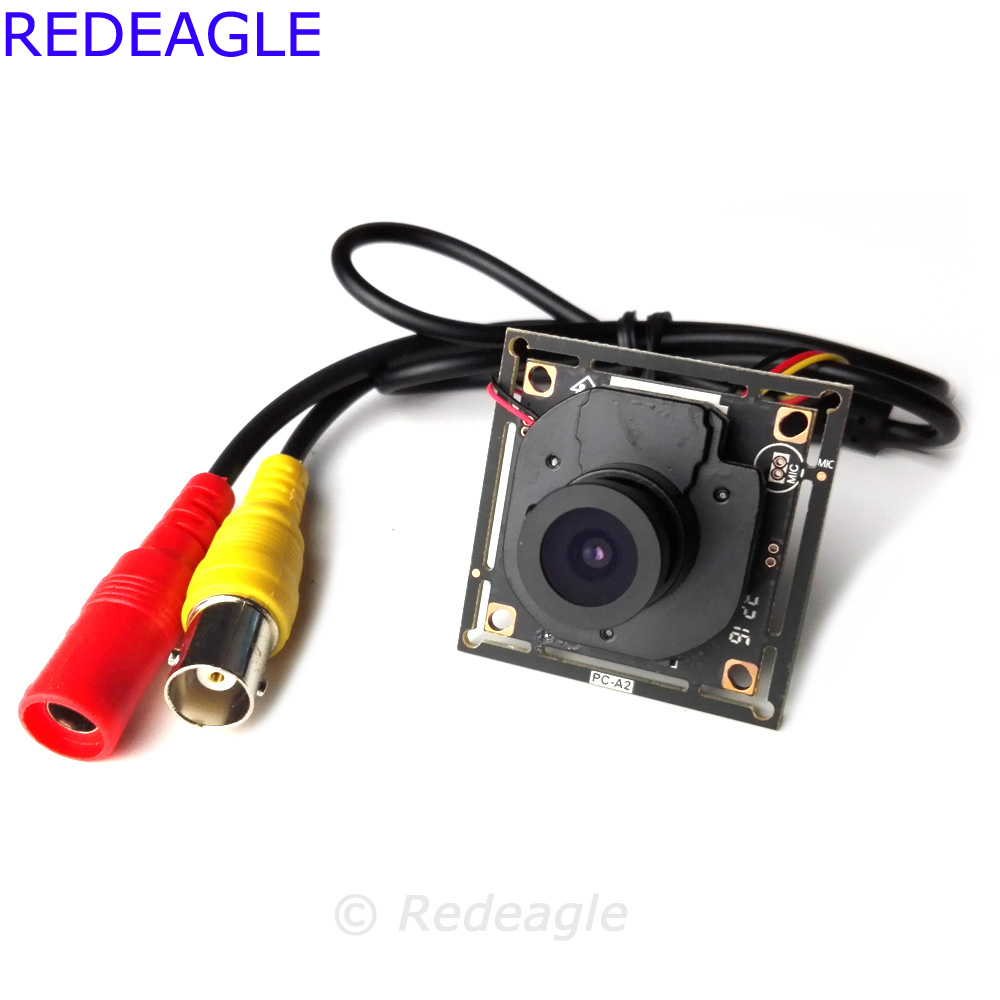 REDEAGLE 700tvl CMOS color CCTV mini Camera PCB Board Module with Lens IR CUT Filter 5 Core Cable 0 3 megpixel usb micro cctv usb 2 0 board camera module pcb with 2 1mm lens for android
