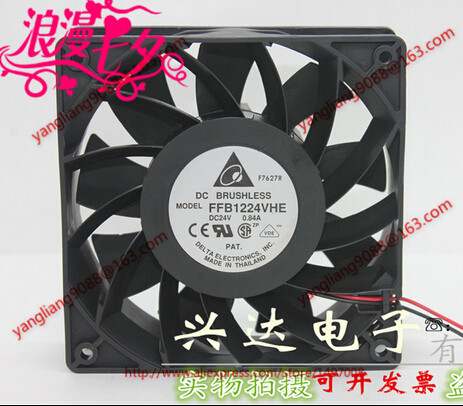 DELTA FFB1224VHE DC 24V 0.84A, 120x120x38mm 2-wire Server Square Cooling Fan